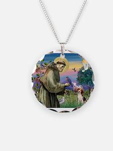 Saint Francis / Beagle Necklace