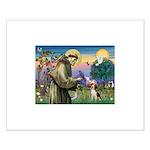 Saint Francis / Beagle Small Poster