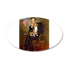 Lincoln's Beagle 22x14 Oval Wall Peel