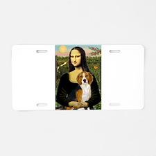 Mona Lisa & Beagle Aluminum License Plate