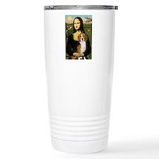 Mona Lisa & Beagle Travel Mug