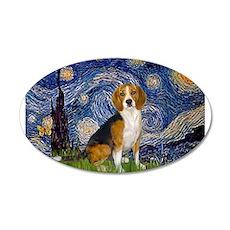 Starry Night & Beagle 22x14 Oval Wall Peel
