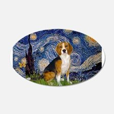 Starry Night & Beagle 22x14 Oval Wall Peel
