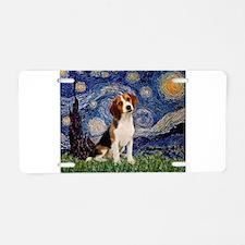 Starry Night & Beagle Pup Aluminum License Pla