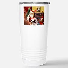 Santa's Beardie pair Travel Mug