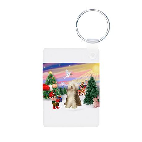 Santa's treat /Beardie Aluminum Photo Keychain