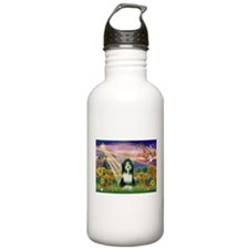 Autumn Angel / Bearded Collie Water Bottle