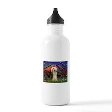 Mt Fuji / Bearded Collie Water Bottle