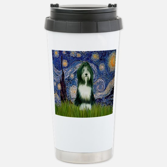 Starry Night & Beardie Stainless Steel Travel Mug
