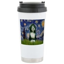 Starry Night & Beardie Travel Mug