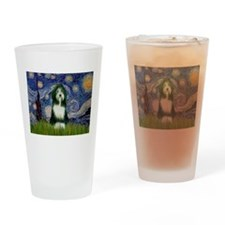 Starry Night & Beardie Drinking Glass