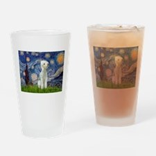 Starry Night Bedlington Drinking Glass