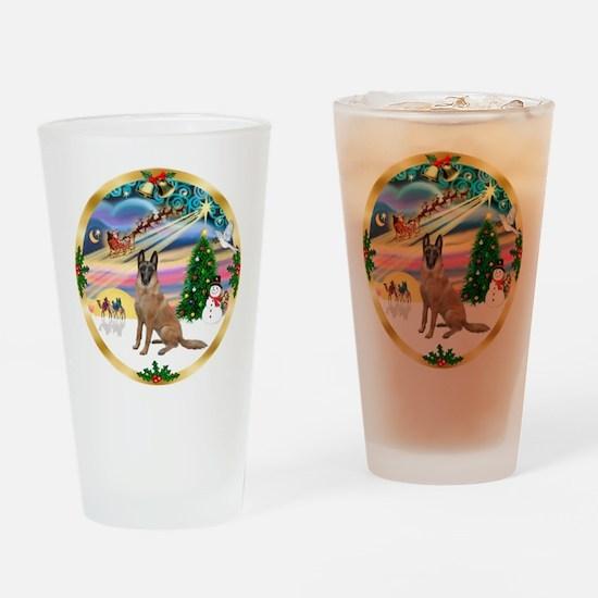 XmasMagic/Malanois Drinking Glass