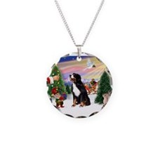 Treat for Bernese Mt Dog Necklace Circle Charm