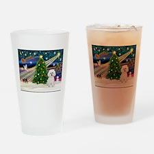 Xmas Magic & Bichon #2 Drinking Glass