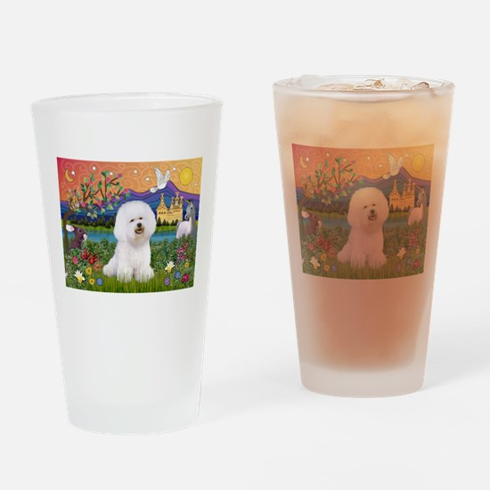 Bichon in Fantasy Drinking Glass