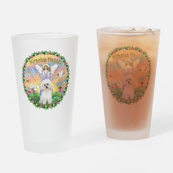 Miracles - Bichon Frise Drinking Glass