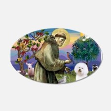 St Francis / Bichon Frise Wall Decal