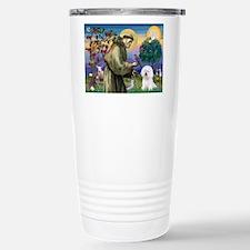 St Francis / Bichon Frise Travel Mug