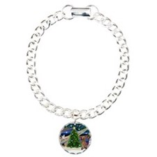 Xmas Magic & Bloodhound Charm Bracelet, One Ch