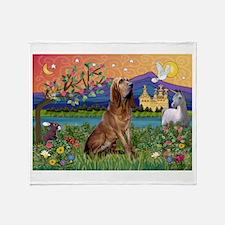 Bloodhound Fantasy Throw Blanket