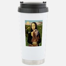 Mona & her Bloodhound Stainless Steel Travel Mug