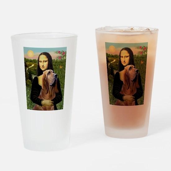 Mona & her Bloodhound Drinking Glass