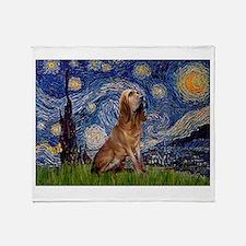 Starry Night Bloodhound Throw Blanket