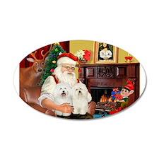 Santa's Bolognese pair 22x14 Oval Wall Peel