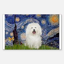 Starry Night Bolognese Sticker (Rectangle)