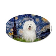 Starry Night Bolognese 22x14 Oval Wall Peel