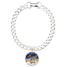 XmasSunrise/2 Border Collies Bracelet