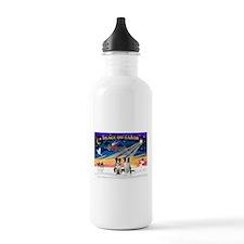 XmasSunrise/2 Border Collies Water Bottle