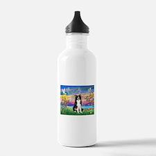 GUARDIAN ANGEL/BORDER COLLIE Water Bottle