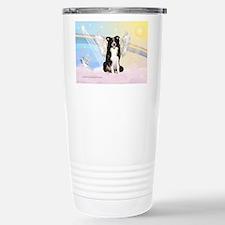 Border Collie Angel Travel Mug