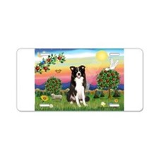 Bright Country/Border Collie Aluminum License Plat