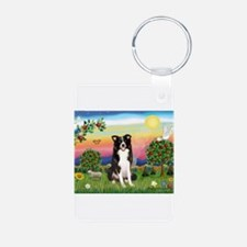 Bright Country/Border Collie Keychains