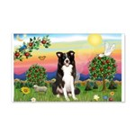 Bright Country/Border Collie 20x12 Wall Decal