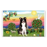 Bright Country/Border Collie Sticker (Rectangle)