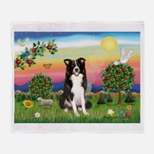 Bright Country/Border Collie Throw Blanket