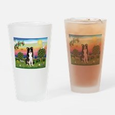 Bright Country/Border Collie Drinking Glass
