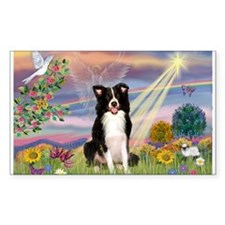 Cloud Angel Border Collie Decal