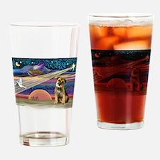 Xmas Star & Border T Drinking Glass