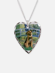 Bridge / Border Terrier Necklace Heart Charm