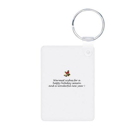 Starry Night/Border T Aluminum Photo Keychain