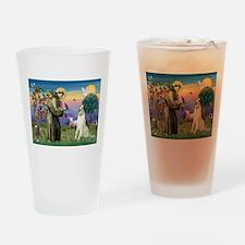 St Francis & Borzoi Drinking Glass