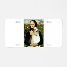 Mona & her Borzoi Aluminum License Plate