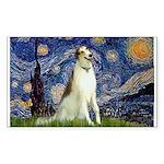 Starry Night & Borzoi Sticker (Rectangle)