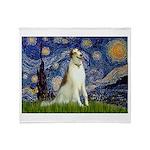 Starry Night & Borzoi Throw Blanket