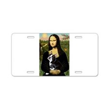 Mona Lisa/Boston T Aluminum License Plate